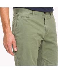 Tommy Hilfiger Green Micro Print Regular Fit Shorts for men