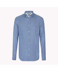 Tommy Hilfiger Blue Check Slim Fit Shirt for men