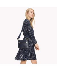 Tommy Hilfiger Blue Star Studded Leather Crossover Bag