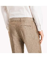Tommy Hilfiger Natural Linen Trousers for men