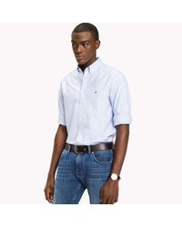 Tommy Hilfiger Blue Diamond Dobby Shirt for men