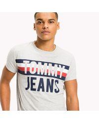 Tommy Hilfiger Gray Regular Fit Logo T-shirt for men