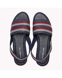 Tommy Hilfiger Blue Stripe Slingback Slide Sandals