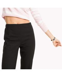 Tommy Hilfiger Black Wool Pull-on Trousers