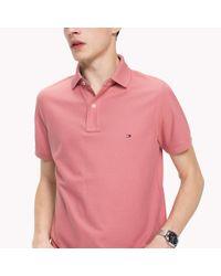 Tommy Hilfiger Pink Slim Fit Polo Shirt for men