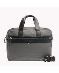 Tommy Hilfiger Gray Elevated Laptop Bag for men