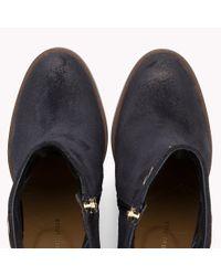 Tommy Hilfiger Blue Suede Eyelet Ankle Boots