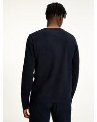 Tommy Hilfiger Katoenen T-shirt Met Lange Mouwen in het Blue voor heren