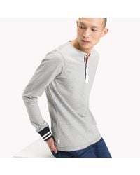 Tommy Hilfiger Gray French Terry Henley for men