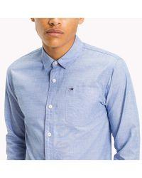 Tommy Hilfiger Blue Cotton Regular Fit Shirt for men