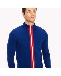 Tommy Hilfiger Blue Stripe Zip Jumper for men