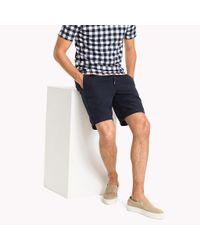 Tommy Hilfiger Blue Cotton Linen Drawstring Shorts for men
