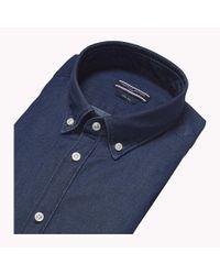 Tommy Hilfiger Blue Button Down Cotton Shirt for men