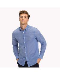 Tommy Hilfiger Blue Geometric Regular Fit Shirt for men
