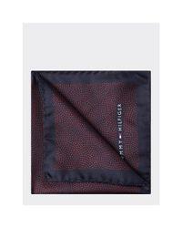Tommy Hilfiger Blue Silk Micro Dot Pocket Square for men
