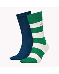 Tommy Hilfiger Green 2-pack Rugby Socks for men
