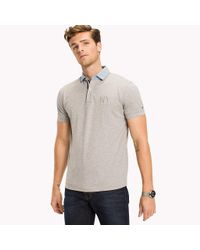 Tommy Hilfiger Multicolor Denim Collar Polo for men