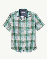 Tommy Bahama Green Big & Tall Double Fauna Camp Shirt for men