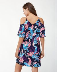 Tommy Bahama - Blue Graphic Tropics Cold-shoulder Dress - Lyst