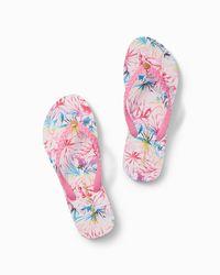 Tommy Bahama Pink Whykiki Braid Flip Flops
