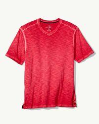 Tommy Bahama Red Suncoast Shores V-neck T-shirt for men