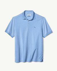 Tommy Bahama Blue Big & Tall Coastal Crest Islandzone® Polo for men