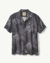 Tommy Bahama Gray Nfl Fez Fronds Camp Shirt for men