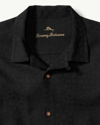 Tommy Bahama Black Big & Tall Spin Class Camp Shirt for men