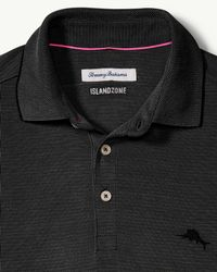 Tommy Bahama Black Big & Tall Coastal Crest Islandzone® Polo for men