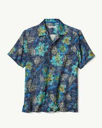 Tommy Bahama Blue Batiki Beach Islandzone® Camp Shirt for men