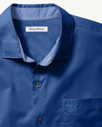 Tommy Bahama Blue Oasis Twill Long-sleeve Stretch Shirt for men