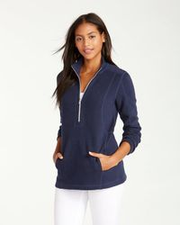 Tommy Bahama - Blue Aruba Angle Pocket Half-zip Sweatshirt - Lyst