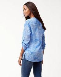 Tommy Bahama Blue Boulevard Blossoms Gauze Shirt