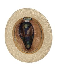 Tommy Bahama - Natural Crochet Raffia Fedora With Braid - Lyst