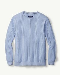 Tommy Bahama - Blue Marled Sands Crewneck Sweater for Men - Lyst