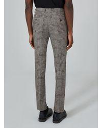Topman Gray Mid-grey Check Skinny Suit Trouser for men