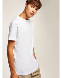 Topman White Longline T-shirt for men