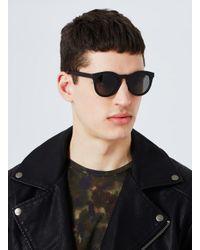 Topman - Black Rubberised Round Sunglasse for Men - Lyst