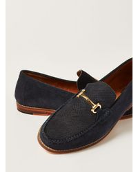 Topman - Blue Navy Suede Larry Snaffle Loafer for Men - Lyst