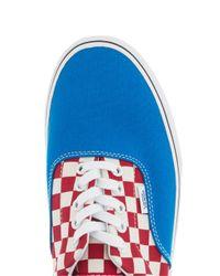 Topman Blue Vans Authentic Check Trainer for men