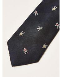 Topman Blue Astronaut Tie for men