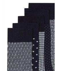 Topman - Blue Navy Mix Polka Dot Socks 5 Pack for Men - Lyst