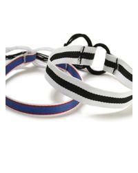 Topman Blue Triped Bracelet Pack for men