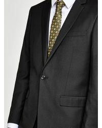 Topman Black Slim Suit Jacket for men