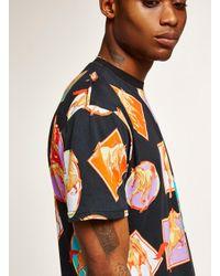Topman Black Oversize Horse Print T-shirt for men