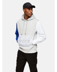Nicce London Gray Mesh Pocket Hoodi for men