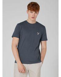 Topman - Gray Dark Grey Badge T-shirt for Men - Lyst