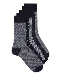 Topman | Blue Navy Mix Polka Dot Socks 5 Pack for Men | Lyst
