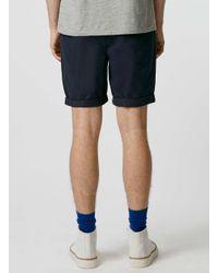 Topman - Blue Navy Chino Shorts for Men - Lyst