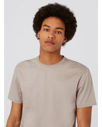 Topman Brown Premium Stone Mercerised T-shirt for men